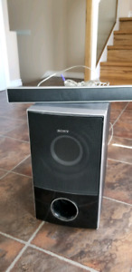 Sony sub box and center speaker