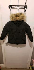 Girls size 3 black Alpinetek Down filled Coat