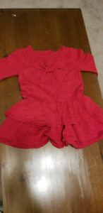 Red children's dress