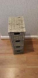 Rattan storage with 4 drawers £10