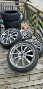 22 inch savini chrome rims
