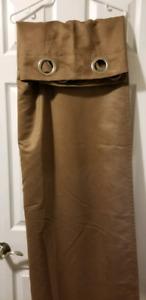 Faux Suede Curtain Panels x2 84 inch