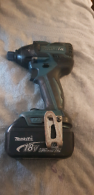 MAKITA 18V BRUSHLESS IMPACT DRIVER DTD129 & 4.0AH BATTERY