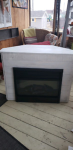 Fireplace with corner unit