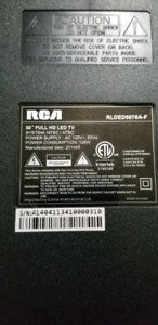 "Looking for broken 50"" RCA tv for parts"