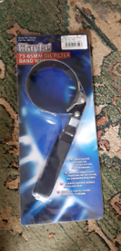 Oil filter band wrench