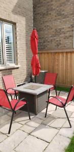 Patio Set with Propane Fire Fit
