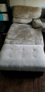 Chaise lounge and ottoman