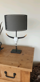 Designer animal skull table lamp