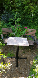 Garden/Patio Marble Table with Cast Iron Legs