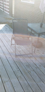 Patio table. And four chairs.
