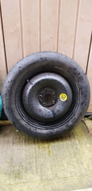 Space saver wheel and tyre 5 stud 16inch for ford focus or any 5 stud