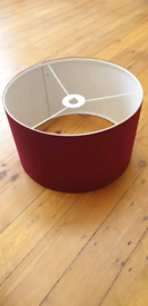 Red Burgundy Pendant Drum Light Lamp Shade