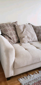 """Fabric Sofa/Couch (great condition)with cushions (56""""x32""""x36"""")"""