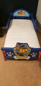 Toddler bed with mattress (Paw Patrol)