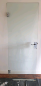 Plate Glass Door Complete with Hinges and Latch