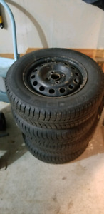 VERY GOOD CONDITION 4 WINTER TORES ON RIMS 185/70/R14
