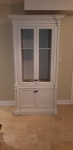 TV / ENTERTAINMENT CUSTOM MADE CABINET WITH CROWN MOULDING