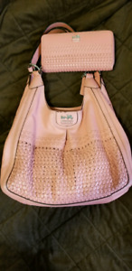 Authentic Coach hobo bag with matching wallet