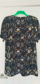 NWT floral cap sleeve shift dress size 16