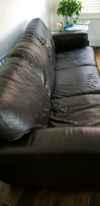 Genuine leather couch and loveseat