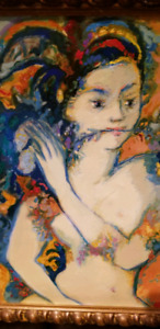 Art painting in frame - woman