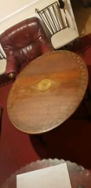 Antique carved dropleaf table foldable