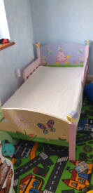 Girls toddler bed and mirror set by Fantasy Fields, Teamson