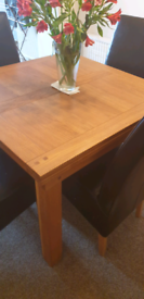 Oak extending dining room table