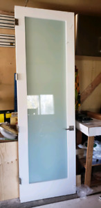 """30x96"""" Trimlite shaker frosted glass doors"""