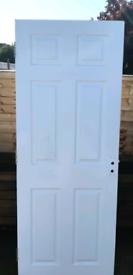 6 panel internal door ( I think it's firecheck as it's very heavy)