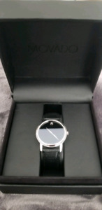 Black Authentic Movado Swiss Quartz Watch