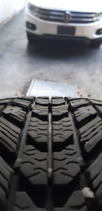 Firestone Winterforce 195/65R15 tires on 5x112 VW Golf rims