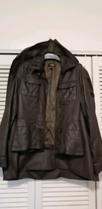 Danier Leather chocolate brown leather jacket