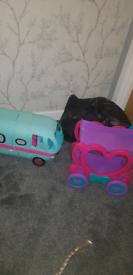 Camper van and toys