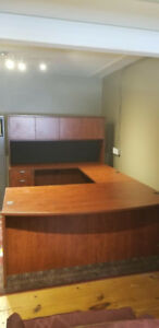 Office furniture L shaped desk with hutch