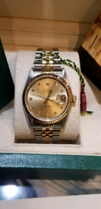 Authentic Rolex Datejust watch  18k gold and stainless steel