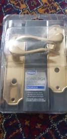 Bathroom door handle and lock