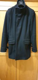 Reiss Wool Coat - Size S. Black