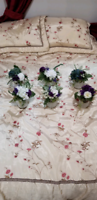 6 Vased floral bouquets for weddings/special occasions  $30 OBO