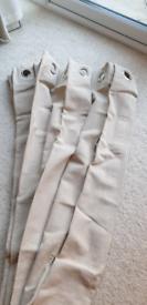 Curtains - beige high quality 2.3-2.5m width 140cm drop