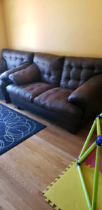 Love seat and single oversize couch