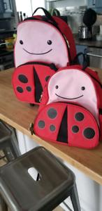 Skip Hop roller bag and back pack