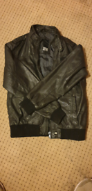 Used, Jack and jones leather jacket for sale  Shepton Mallet, Somerset