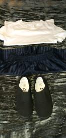 Boy's school trousers & PE kit & pumps age 4 year's
