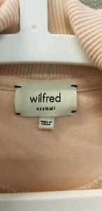Aritzia Wilfred Light Pink Diderot Cardigan Sweater XXS