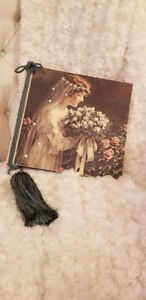 Swarovski Crystal Rhinestone Linen Wedding Photo album (NEW)