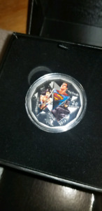 Batman V Superman Fine Silver Coin - The Trinity||NEVER TOUCHED