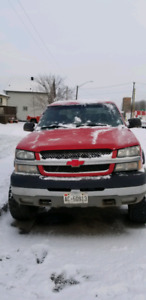 """2003 chevy 2500HD 6.0L with 7.5"""" BDS lift kit"""