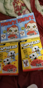 Pennywise and cuphead funko cereal box brand new